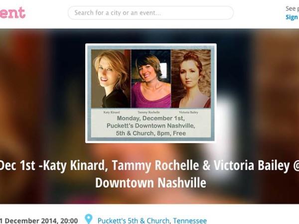 Girls In The Round at Puckett's – Downtown Nashville